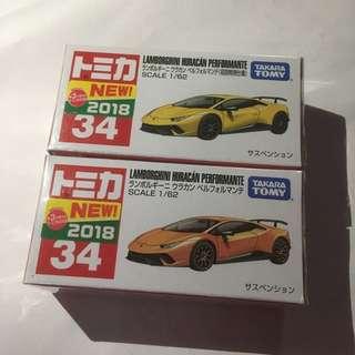 Tomica No.34 Lamborghini Huracan Performante 有貼一對