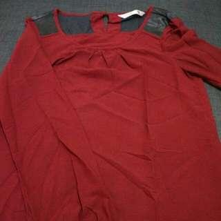 Baju Bahan Sifon + Kulit Size S