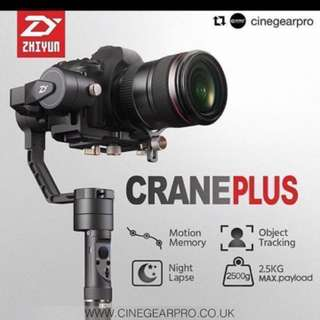 Zhiyun Crane Plus 📣 Is available now limited stock.we provide free delivery to your Mrt Location. ( Only 3set Left )