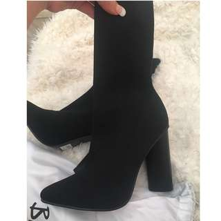 Bardot knit me over ankle boots size 38