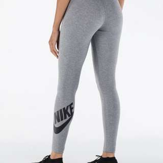 Nike Leg-A-See Logo Leggings Grey and Navy