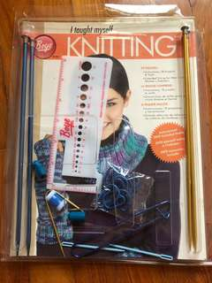 Knitting tools with Book and DVD