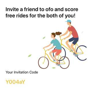 Free ofo rides using promo code