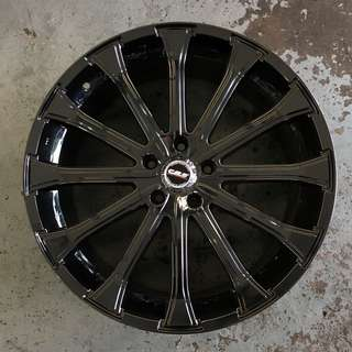 20 Inch New Black Chrome Rims