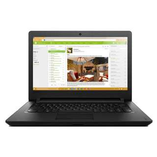 "Lenovo Ideapad 110-14IBR 80T6009TMJ 14"" Laptop Black ( N3710, 4GB, 500GB, Integrated, W10)"