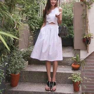 🚚 白色兩件式洋裝(降價