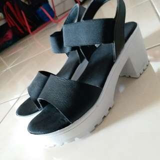Casual Black Wedges Sandals