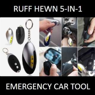 ★[NEW] SALE★ Ruff Hewn 5-in-1 Emergency Tool: Useful Device to Keep You Safe in the Event of a Car Accident.