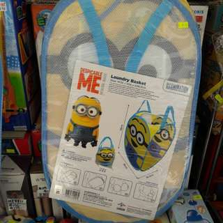 Disney Laundry Basket/Minion/迷你兵團摺合汚衣籃36×36.2×58cm高