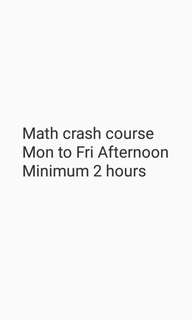Math Crash course