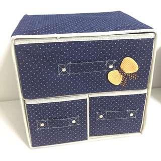 Blue storage organizer