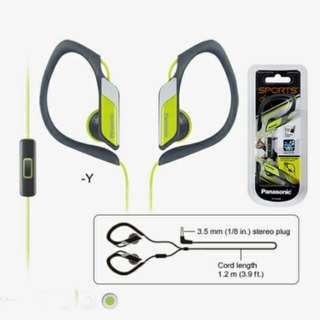 全新Panasonic RP-HS34ME 運動型勾耳式耳機連咪 手機有線耳筒
