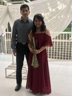 Marsala Bridesmaid Gown
