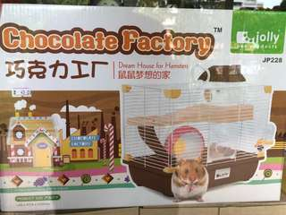 Jolly Chocolate Factory Upgraded Version Hamster Cage