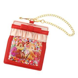 Japan Disneystore Disney Store Hello Chip and Dale Chain Pass Case Preorder
