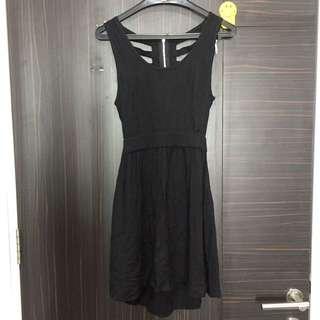 Black spider back dress