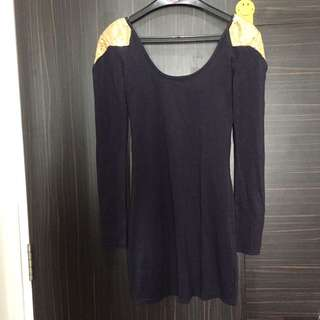 Shoulder embelishment dress