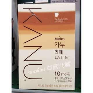 現貨 MAXIM KANU 韓國 無糖拿鐵咖啡 孔劉代言 10入