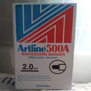 Artline 500A Whiteboard Marker 黑色水筆