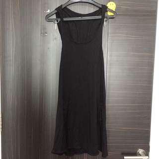 Black dress with hoodie