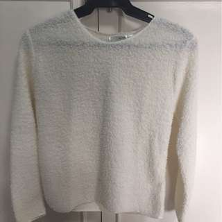 White Furry Pullover