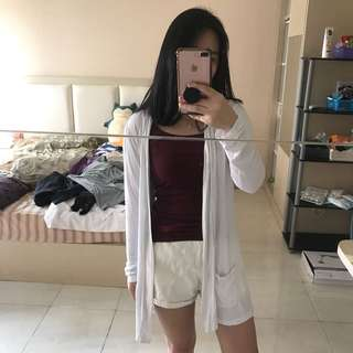 Cotton on white cardigan outer