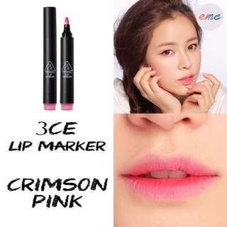BN 3CE 3 Concept Eye Lip Marker Tint - Crimson Pink