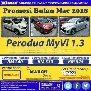 Kereta Sewa Balakong Promosi Mac 2018