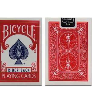 Red bicycle decks