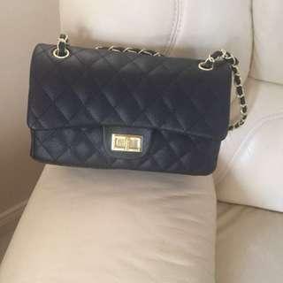gorg black leather bag