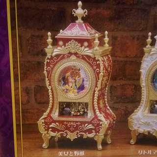 全新未開封 迪士尼 美女與野獸 座檯仿古董鐘 SEGA日本正版景品 Disney Beauty and the Beast Clock #JAMMA #回轉鐘擺時計#旋轉