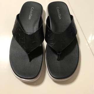 Men's Deano CK Emboss Leather Dress Sandal