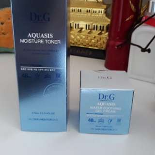 Dr.G Aquasis Moisture Toner + Aquasis Water Soothing Gel Cream