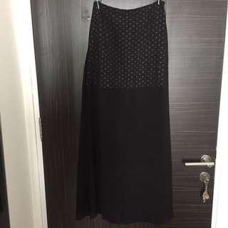 Kitsch polkadot chiffon skirt