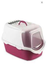 Stefanplast Italy Cathy Easy Clean Cat Litter Box Pink