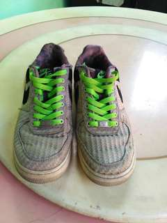Nike Air Force 1 low mortal black lime khaki white