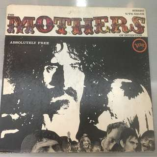 Mothers Of Invention – Absolutely Free, Vinyl LP,  Verve Records – V/V6-5013X, 1967, USA