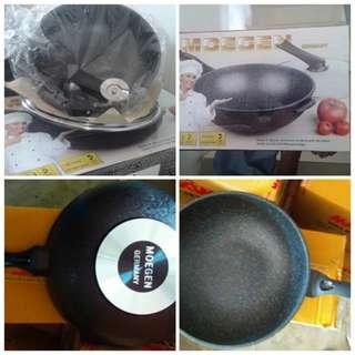 Panci Moegen Wok Pan Germany Ukuran 30cm Alat Memasak Di Dapur Anti Lengket