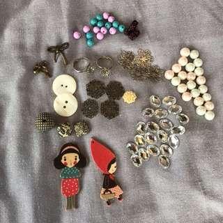 Beads, rhinestone and craft materials