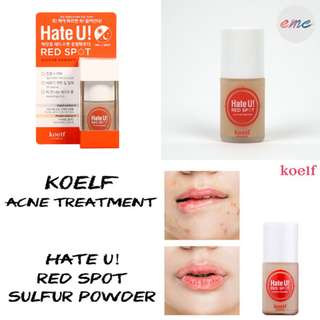 BN Koelf Petitfee Hate U! Red Spot Sulfur Powder