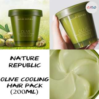 BN Nature Republic Natural Olive Scalp Cooling Hair Pack