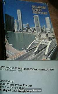 Old vintage singapore book  Singapore street directory