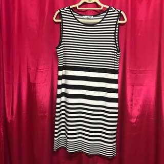 B&W Stripe Dress