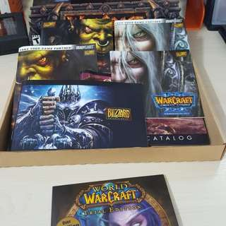 Old world of warcraft chest box books and trial cd