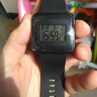 007 未使用 電子錶 夜光 碼錶 整點報時