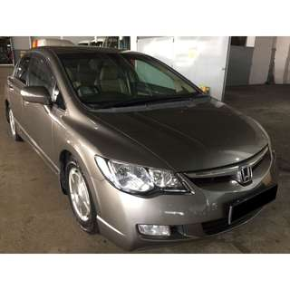 09/03-12/03/2018 HONDA CIVIC 1.8A ONLY $240.00 ( P PLATE WELCOME)