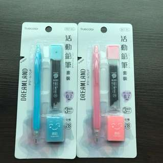 Mechanical cute Pencil with eraser and refills Stationary