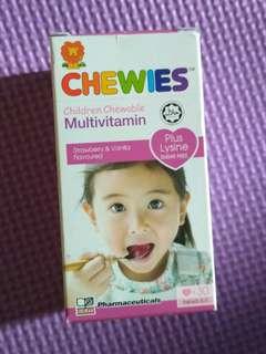 Chewies Multivitamin with Lysine