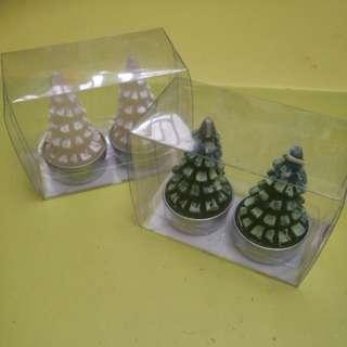 聖誕樹蠟燭2盒