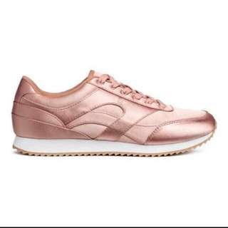 H&M Rosegold Sneaker